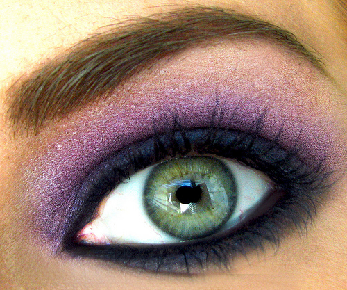 Purple eye makeup for brown eyes