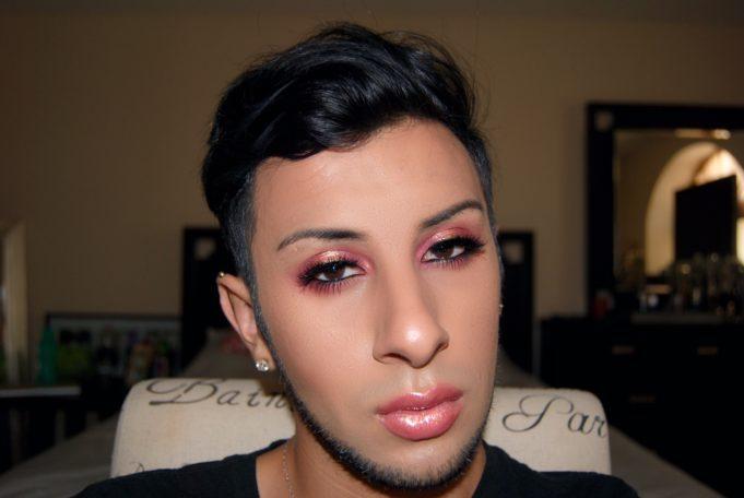 cranberry gold makeup