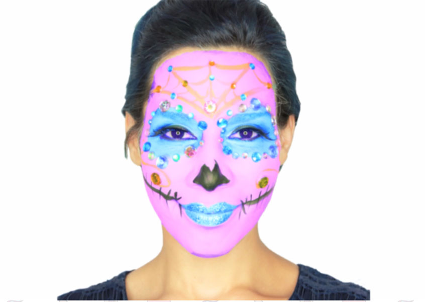 sugar school Halloween Makeup