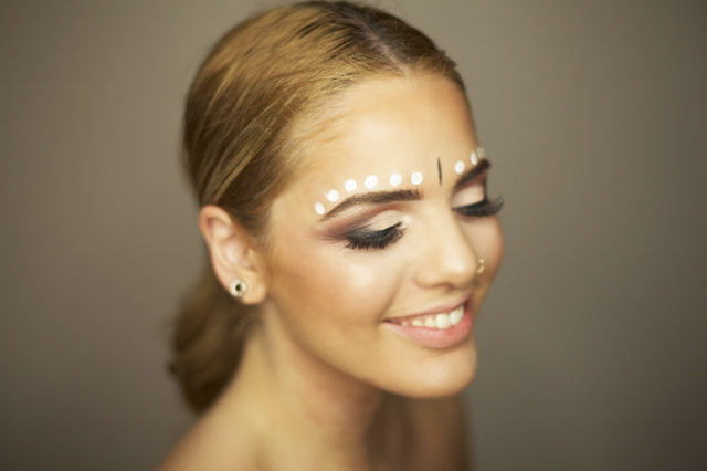 burning man festival makeup look tutorial