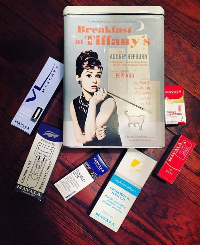 Mavala eye lash curler, mavala deodorizing foot gel, and the mavala scientifique