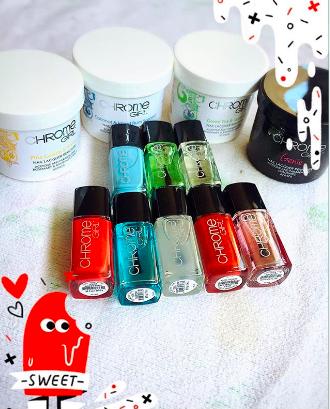 chrome girl nail polish