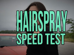 hairspray speed test