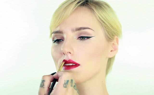 glitter lips tutorials chicstudios