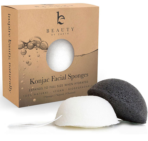 Beauty by Earth Konjac Exfoliating Facial Sponges