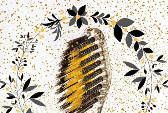 Nano-b Gold & Charcoal Toothbrush from London