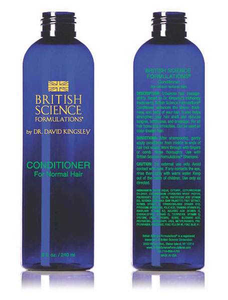 British Science Formulations Conditioner for normal hair Dr. Kingsley