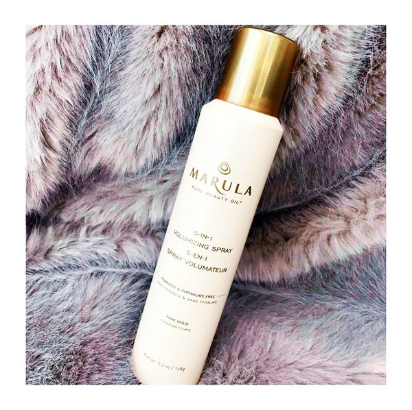 marula 5-in-1 volumizing spray.