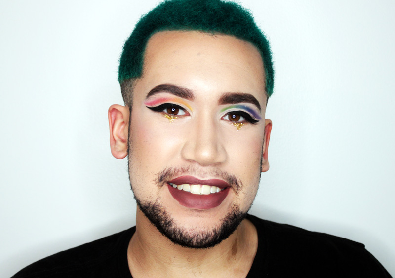 Gay guy makeup tutorial